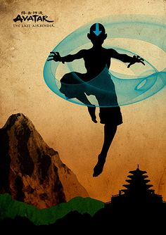 Avatar: The Last Airbender poster - Aang airbending Avatar Aang, Avatar Airbender, Team Avatar, Aang The Last Airbender, Zuko, Fire Nation, Cartoon Posters, Cartoons, Dc Comics Personnages