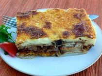 Moussaka - Classic Greek Moussaka with Eggplant I forgot to add the parmesan cheese but it still turned out delicious!