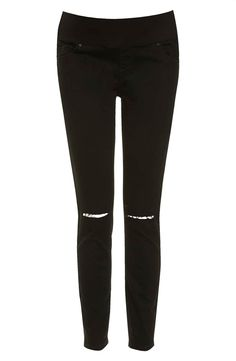 Topshop 'Jamie' Ripped Skinny Maternity Jeans available at ...