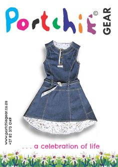 Girls #denimdress by #portchiegear - www.portchiegear.co.za