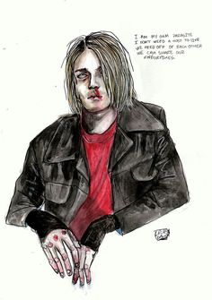 Art by Lucas David #kurtcobain #nirvana #grunge #art #quotes #lucasdavid