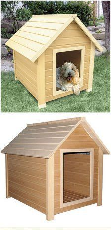 BETTER THAN WOOD! Constructed with Eco-Flex™, a new material made from post-consumer recycled plastic and recycled wood fibers, these are the first dog houses that are truly GREEN. Your pet's home sho