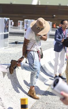 Hat jeans boots tumblr Style men