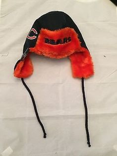 bfba7b12afe NFL Chicago Bears MensTrapskin w  Strings Winter Hat