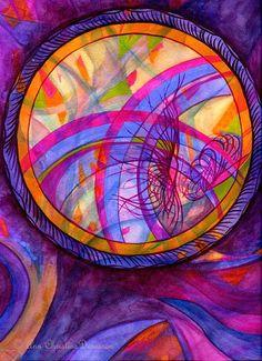 Watercolour Mandala by Ann Christine Dennison