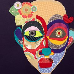 Paper Queen Lila - Cut paper collage