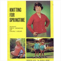 Knitting for springtime People's Friend magazine vintage Knitting supplement Listing in the Sweaters & Clothes,Patterns,Knitting & Crochet,Crafts & Sewing Category on eBid United Kingdom