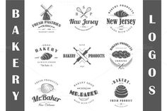 9 Bakery logos templates Vol.1 by Art Design on @creativemarket