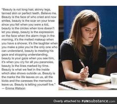 Praise Emma on this. Dedicated to all you beauties out there!