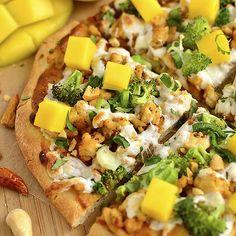 Thai Chicken Flatbread Pizza from Iowa Girl Eats
