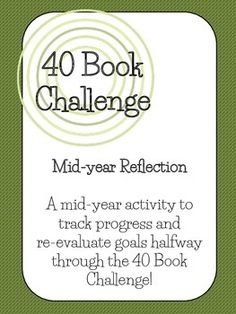 This is a mid-year activity for students to use to track progress and… Education Middle School, Middle School Libraries, 5th Grade Classroom, Classroom Ideas, 40 Book Challenge, Book Whisperer, Readers Workshop, Fifth Grade, Library Books