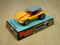 Dinky Toy 227, Beach Buggy. An unusual model that did not seem to fit any of the main Dinky ranges. Featured a removable top. This model was produced between 1975 and 1977.