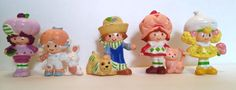 Lot Of 5 Small Rubber Strawberry Shortcake Figures. Really Neat Retro FInd VTG