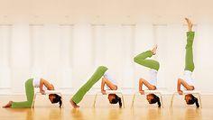 Yoga e Feetup: la sedia per stare a testa in giù - www.latuamappa.com Yoga Inversions, Yoga Headstand, Pilates Chair, Yoga Trainer, Yoga Images, Yoga World, Yoga Lessons, Yoga Props, Yoga Mom