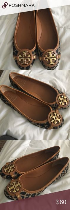 Tory Butch Cheetah Flats In perfect condition, worn 2 or 3 times Tory Burch Shoes Flats & Loafers