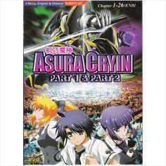 DVD ANIME ASURA CRYIN Season 1 2 Vol.1-26End Region All English Sub