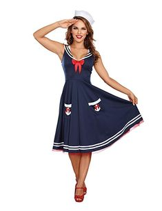 c3ab4661058e Dashing All Aboard Sailor Adult Costume. Spectacular range of Pirate  Costumes for Halloween at PartyBell.