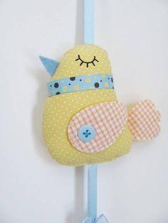Móbile gaiolinha [Amarelo e azul] | Filz crafts | Elo7