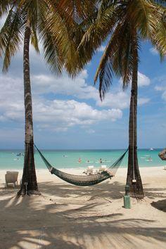 #paradise #palmtrees #beachday #hammock #couplesresorts | Couples Swept Away #Jamaica