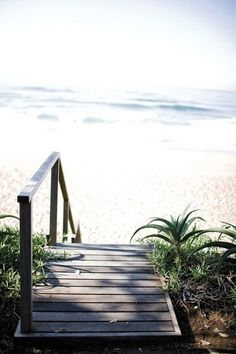 I am picturing myself walking towards these steps and on to that beach....