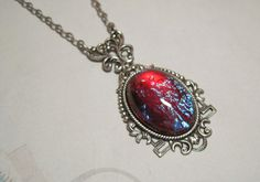 Mexican Opal Dragons Breath Pendant Necklace by dfoxjewelrydesigns, $32.95