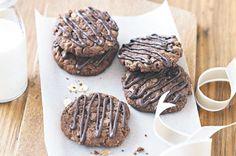 DOUBLE CHOC ANZAC BISCUITS ~ recipe Michelle Southan ~ pic Rob Palmer