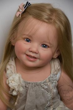 CUSTOM ORDER Reborn boy doll baby girl Cammi by Ping Lau, You choose all the details of human hair glass eyes layaway available! Reborn Toddler Girl, Reborn Baby Dolls, Beautiful Children, Beautiful Dolls, Wiedergeborene Babys, Porcelain Dolls Value, Porcelain Tiles, White Porcelain, Realistic Baby Dolls