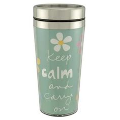 Travel Mug... $5 at Walmart.  Pick up a few single serving packets of hot chocolate, tea, or coffee to pair with it.