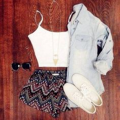 So cute-denim shirts are so wonderfully versatile!