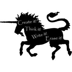 unicorn wall decal chalkboard  $36 Etsy