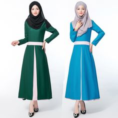 >> Click to Buy << Adult Fashion Hit Color Round Neck Muslin Women's Fashion Dress Ankle-length Robe Ethnics Muslim Women Free Size Fashion Dresses #Affiliate