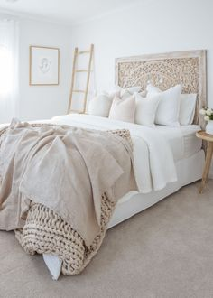 Cheap Home Decor modern bohemian bedroom neutral bedroom neutral decor neutral boho bedroom.Cheap Home Decor modern bohemian bedroom neutral bedroom neutral decor neutral boho bedroom Room Ideas Bedroom, Home Decor Bedroom, Diy Bedroom, Bedroom Modern, Bedroom Designs, Linen Bedroom, Master Bedroom, Bedroom Cushions, Summer Bedroom