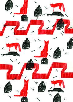 Foxes' wallpaper
