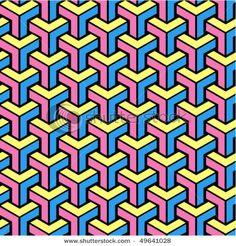 Stock Vector Illustration: seamless geometric pattern