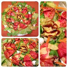 homECooking — Cena Miércoles…lechuga,tomate, queso de oveja,...