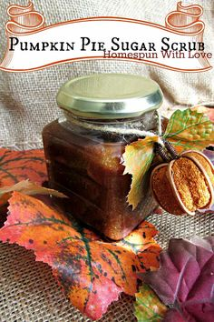 Pumpkin Pie Sugar Scrub. It looks so good you'll have to decide whether you want to put it on your skin or eat it!