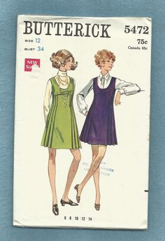 1970's Butterick 5472 Deep Scoop Neckline Baby Doll by MrsWooster, $9.00