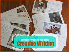 Summer Unschooling Ideas: Creative Writing