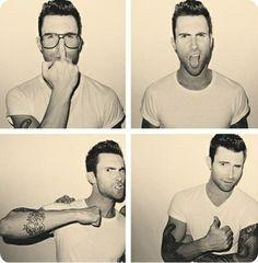 Adam Levine Funny   Adam Levine. someone had fun in the photo booth! #adamlevine