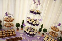 Purple wedding sweet Table