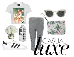 """""""Casual Luxe"""" by untitledandco on Polyvore featuring Untitled & Co, adidas Originals, Diane James and untitledandco"""