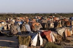 IDP (internally displaced people) camp, roughly 20 kilometres outside ...SOMALILAND