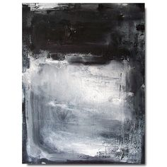 Brian Elston - CIGAR ROOM 2 . original abstract modern art black and white color field painting 24 x 18