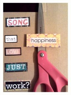 Could be fun when learning to read - fridge magnets made from cut out magazine words