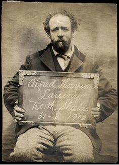 Alfred Thompson was arrested for larceny at the North Shields Police Station on August 31, 1902