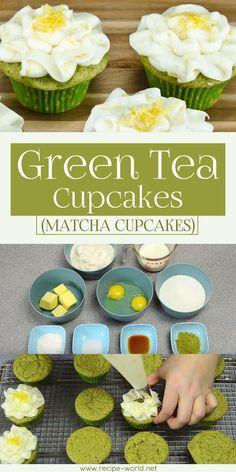 Green Tea Cupcakes (Matcha Cupcakes) ♨️ http://recipe-world.net/green-tea-cupcakes-matcha-cupcakes/?i=p