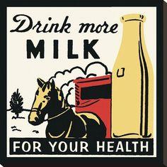 canvas prints, kitchen art, milk, poster, gicle print, art print, health, drinks, vintage kitchen