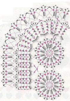 Home Decor Crochet Patterns Part 83 - Beautiful Crochet Patterns and Knitting Patterns Crochet Table Topper, Crochet Tablecloth Pattern, Crochet Doily Diagram, Crochet Table Runner, Crochet Doily Patterns, Crochet Chart, Crochet Motif, Knitting Patterns, Crochet Dollies