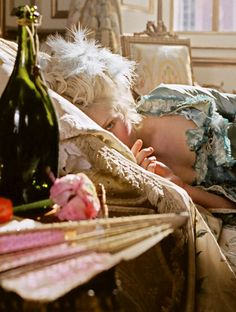 Good morning. Marie Antoinette, as played by Kirsten Dunst.