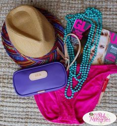 Jon Hart Monogrammed Canvas and Leather Wristlet perfect for a day at the Lake www.thepinkmonogram.com
